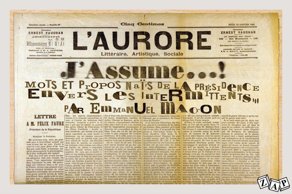 dessin d'actualité de Zap sur le déconfinement et les annonces d'Emmanuel Macron pour la culture