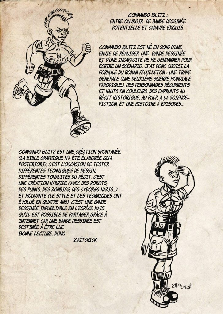 Commando Blitz, bande dessinée de Zaïtchick