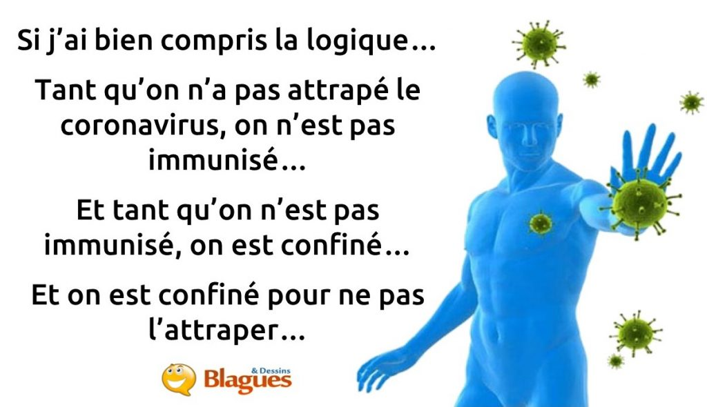 blague sur le confinement