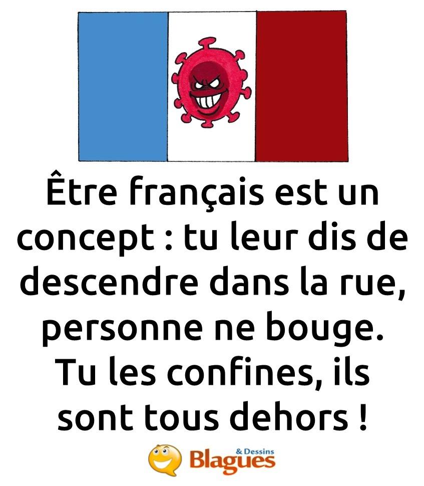 blague sur les Français et le confinement