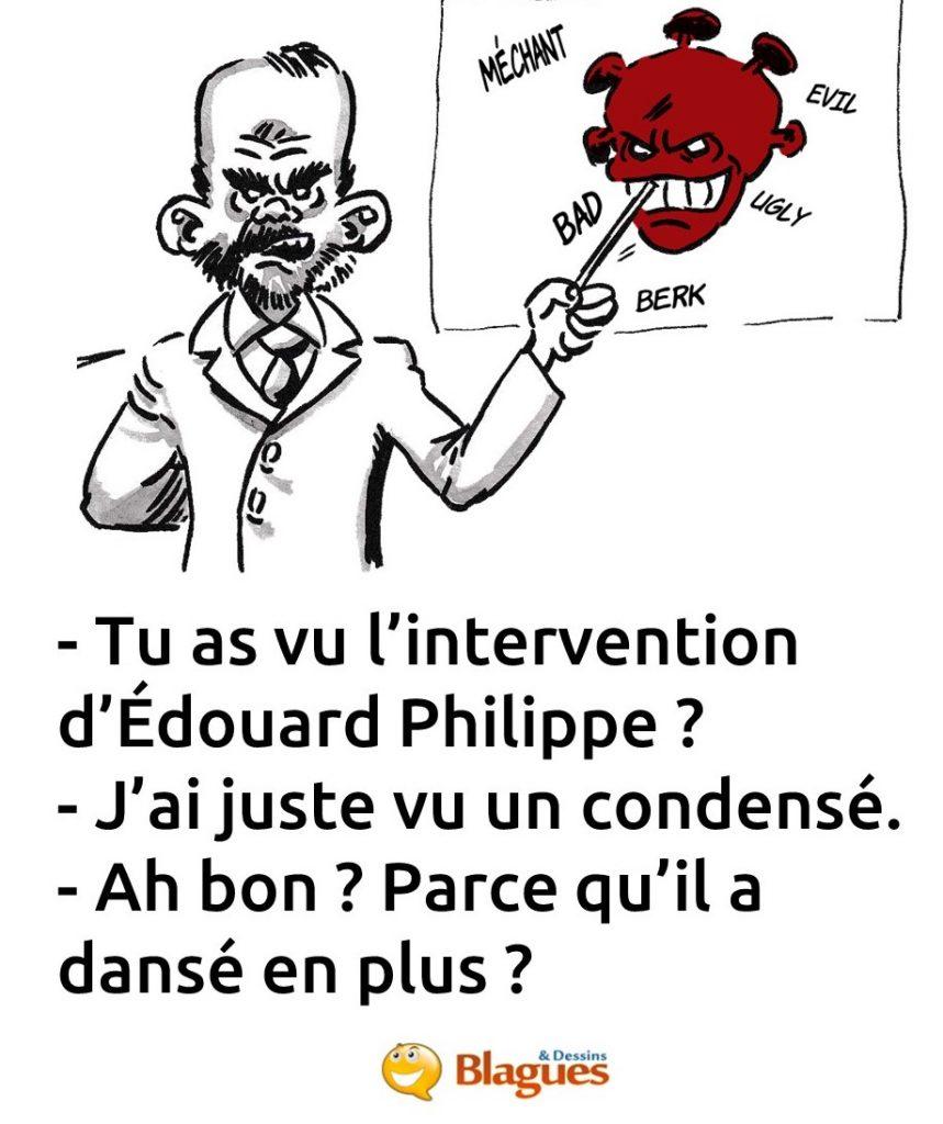blague sur le discours d'Édouard Philippe