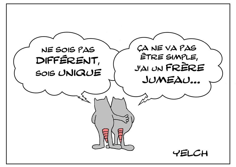 dessin de Yelch sur la différence et l'unicité