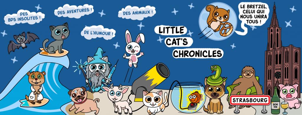 dessin de Jon pour présenter les little cat's chronicles