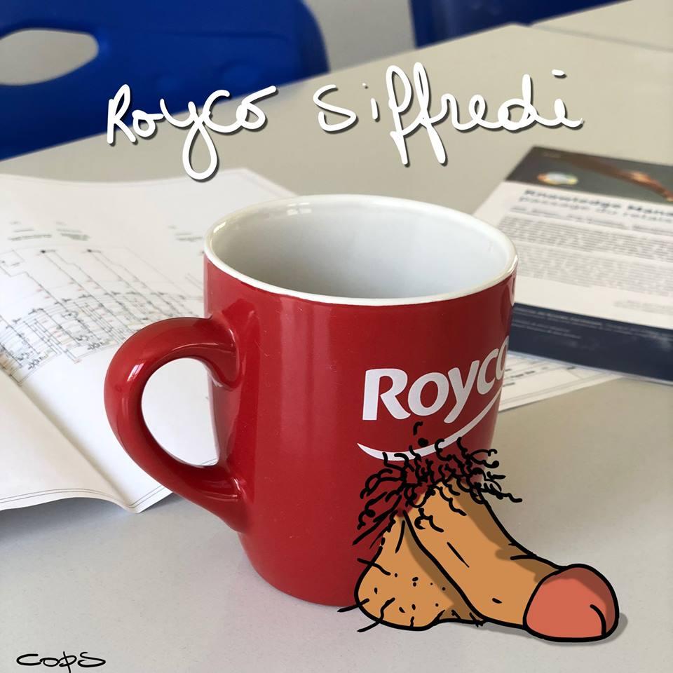 dessin de Cops sur les soupes Royco et Rocco Siffredi