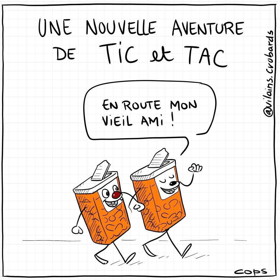 dessin de Cops sur Tic et Tac et les Tic Tac