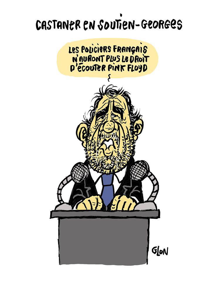 dessin humoristique de Glon sur Christophe Castaner et les manifestations après la mort de George Floyd