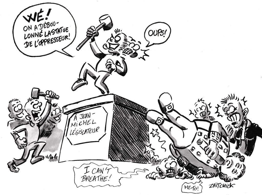 dessin de Zaïtchick sur la destruction de monuments publics