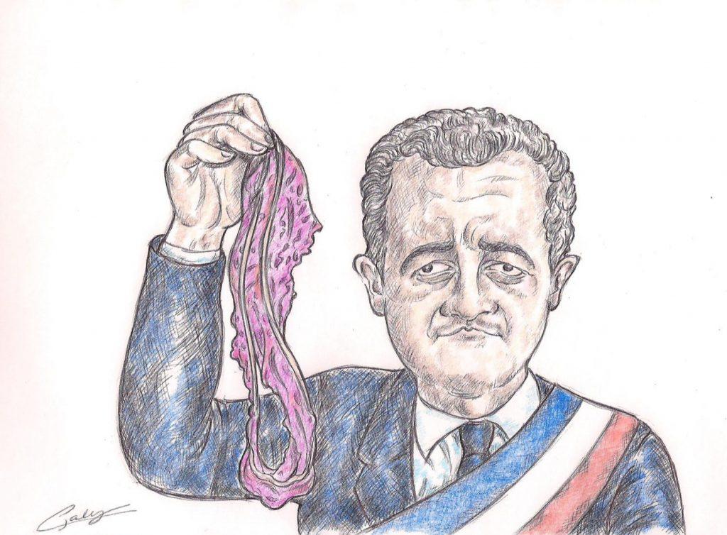 dessin d'actualité de Galy sur les accusations de viol contre Gérald Darmanin