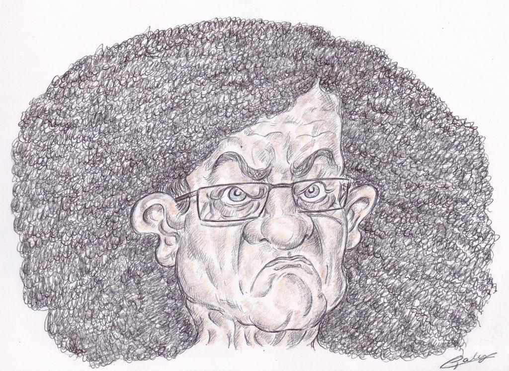 dessin d'actualité de Galy sur Jean-Luc Mélenchon