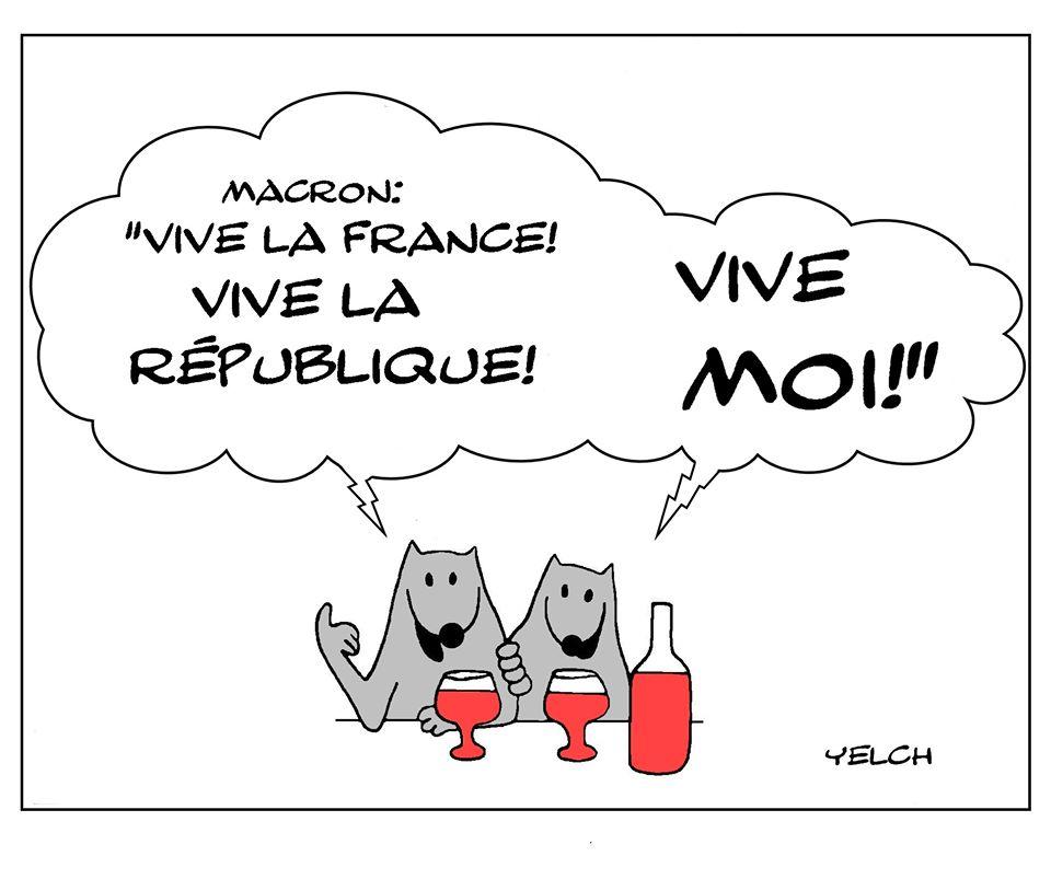 dessin de Yelch sur sur le coronavirus, le déconfinement et le discours d'Emmanuel Macron
