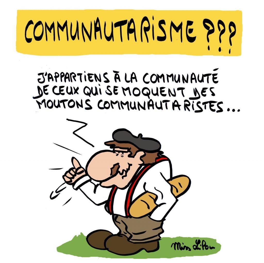 dessin de Miss Lilou sur le communautarisme