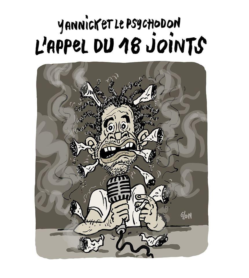dessin humoristique de Glon sur Yannick Noah et l'appel du 18 juin