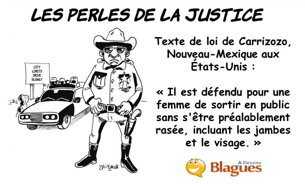 les perles de la justice, Les perles des lois, les perles américaines