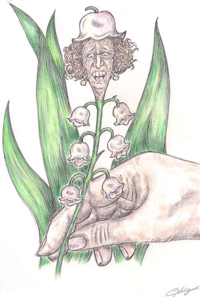 dessin d'actualité de Galy sur la fête du travail et Muriel Pénicaud