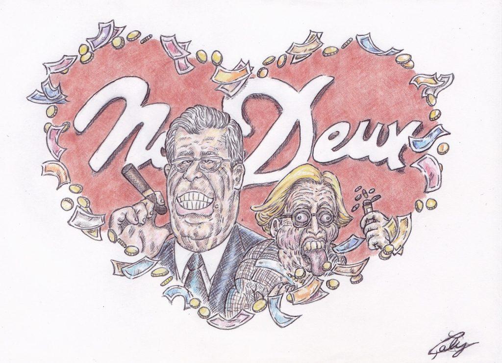 dessin d'actualité de L. Galy sur les Balkany, la fin d'un marathon judiciaire