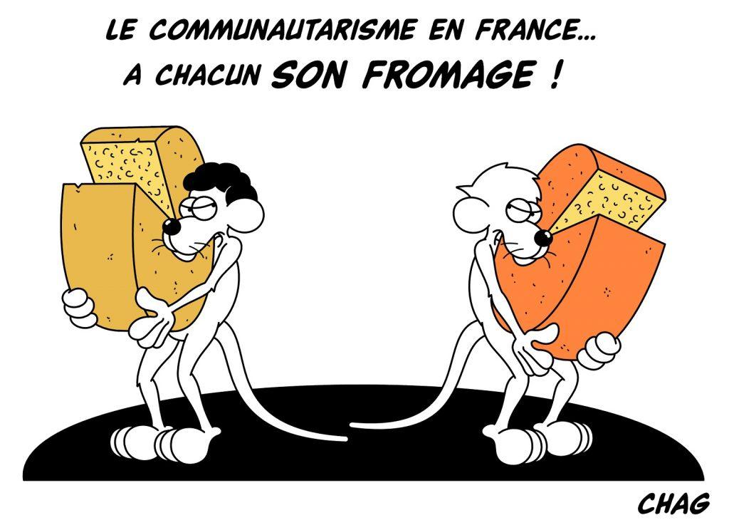 dessin d'humour de Chag sur le communautarisme