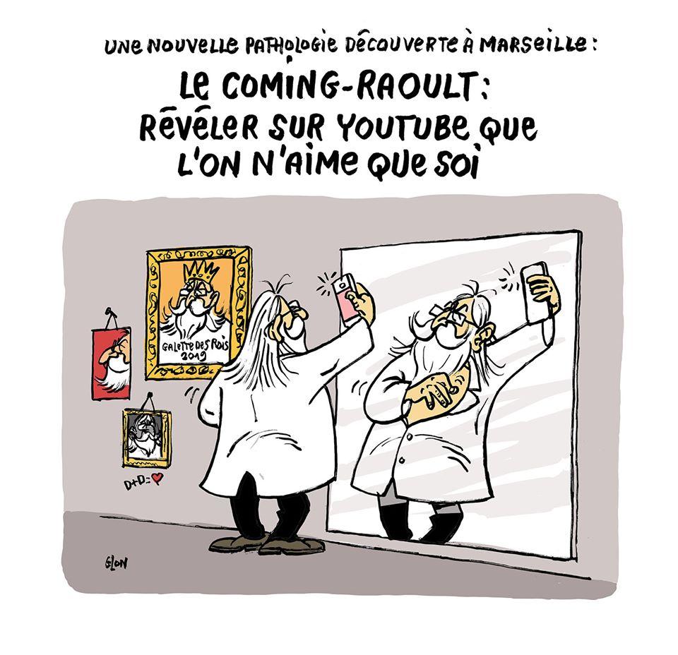 dessin humoristique de Glon sur Didier Raoult