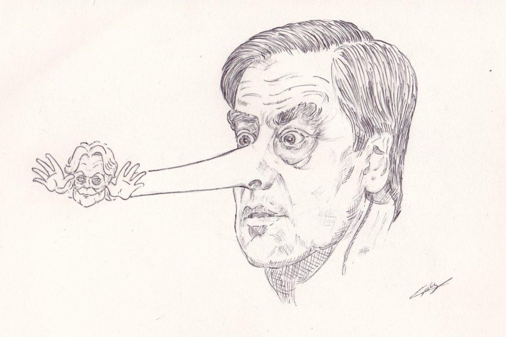dessin d'actualité de Galy sur les condamnations de François Fillon et Penelope Fillon
