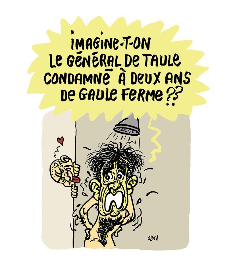 dessin humoristique de Glon sur la condamnation de François Fillon