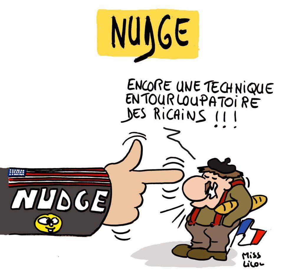 dessin de Miss Lilou sur la technique du Nudge
