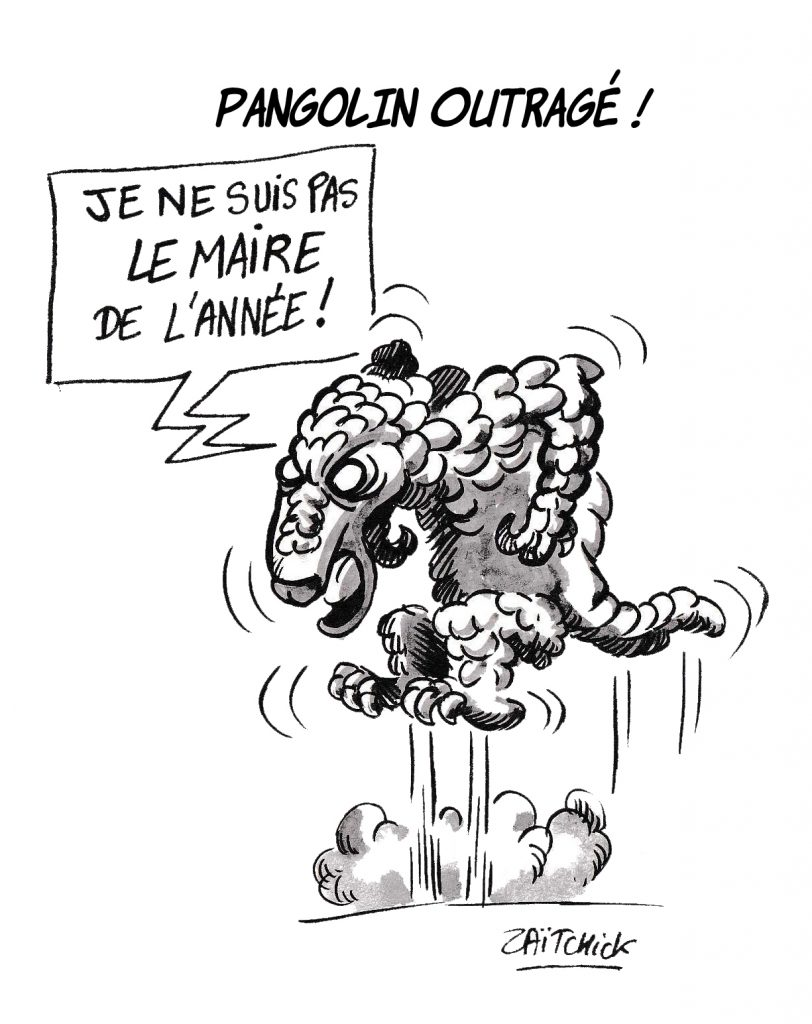 dessin de Zaïtchick sur Bruno Le Maire et sa réflexion sur le pangolin de l'année