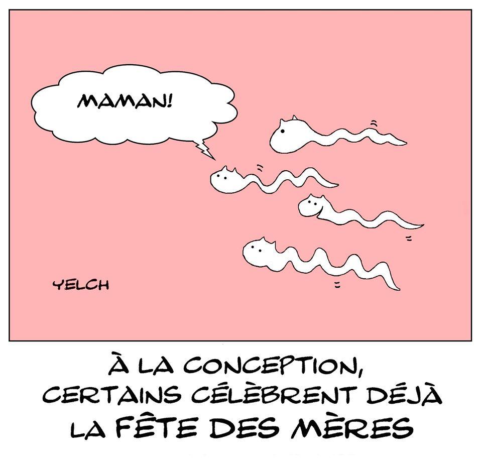 dessin de Yelch sur la fête des mères