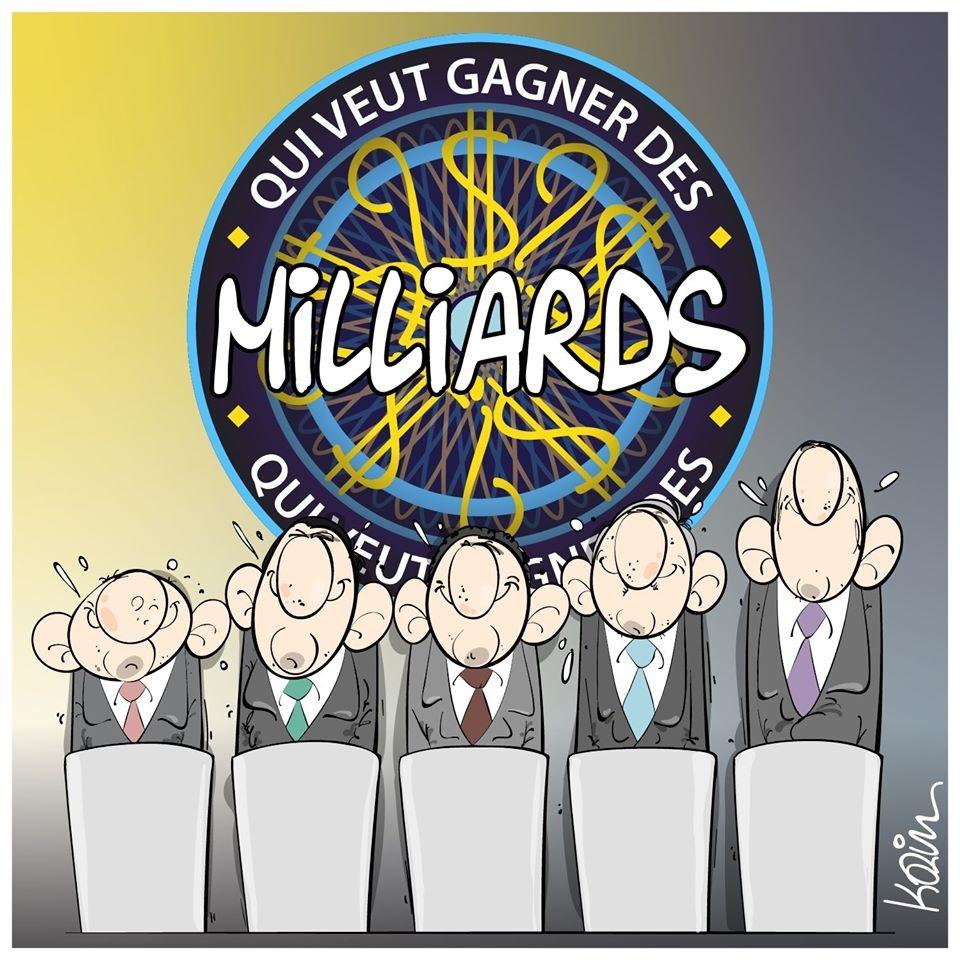 dessin d'actualité humoristique de Karim sur les élections présidentielles