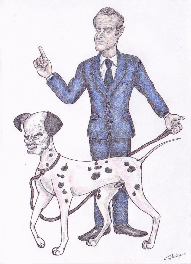 dessin d'actualité de L. Galy sur Édouard Philippe et Emmanuel Macron