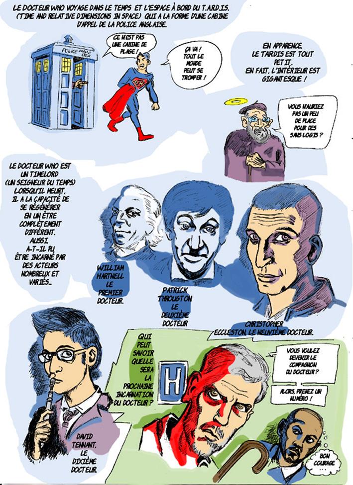dessin de Zaïtchick sur Doctor Who