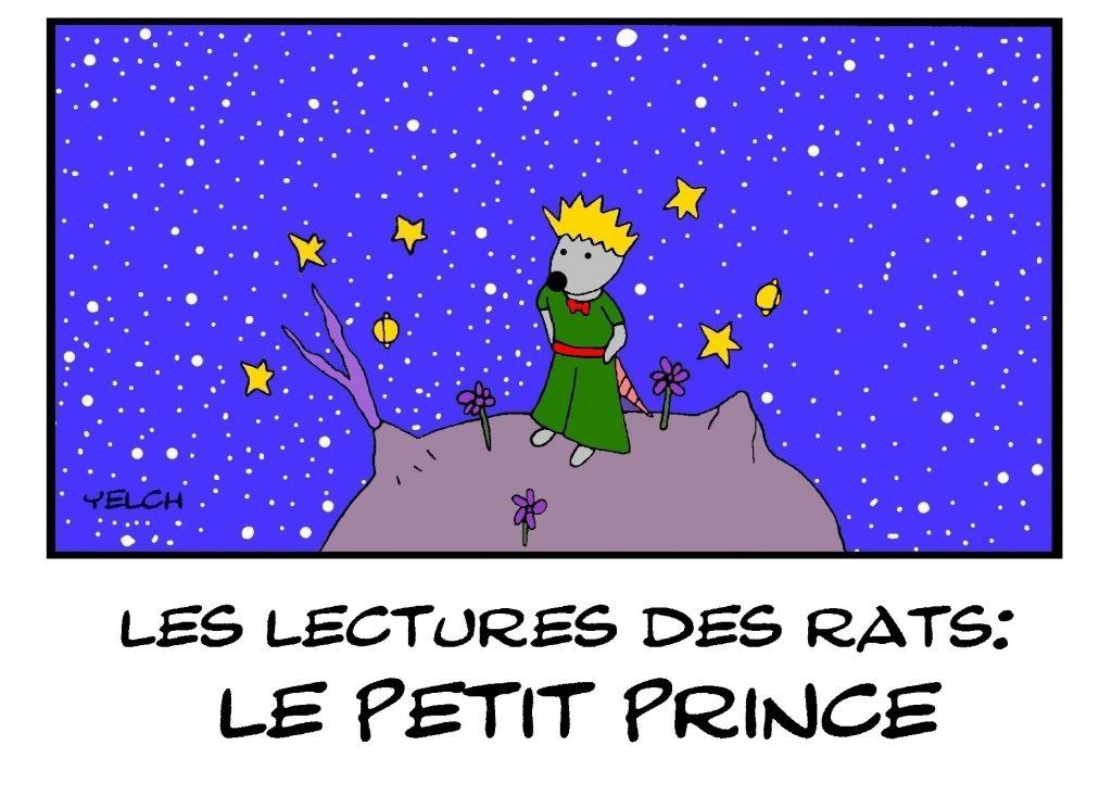 dessin de Yelch sur le Petit Prince de Saint-Exupéry