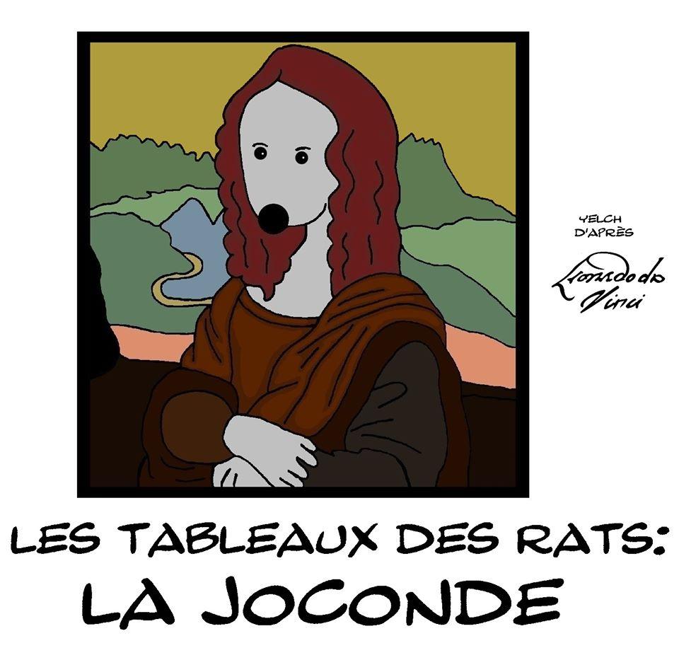 dessin de Yelch sur Léonard De Vinci et La Joconde