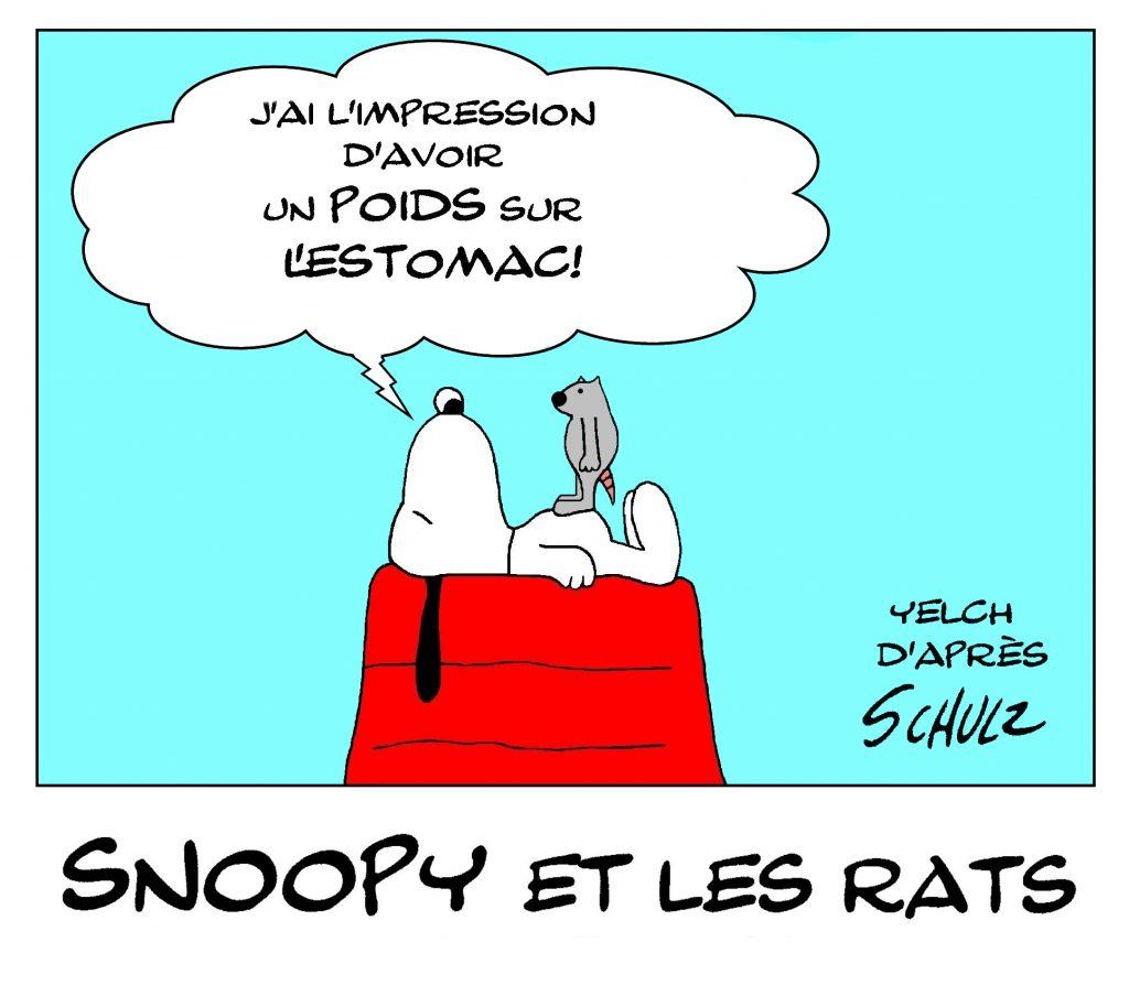 dessin de Yelch sur Snoopy