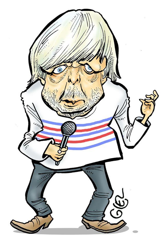 dessin humoristique de Glez sur la nouvelle chanson de Renaud : « Corona Song »