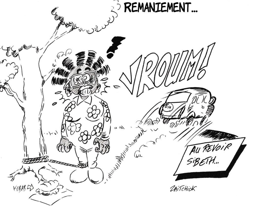 dessin de Zaïtchick sur le départ de Sibeth Ndiaye, ancienne porte-parole du gouvernement