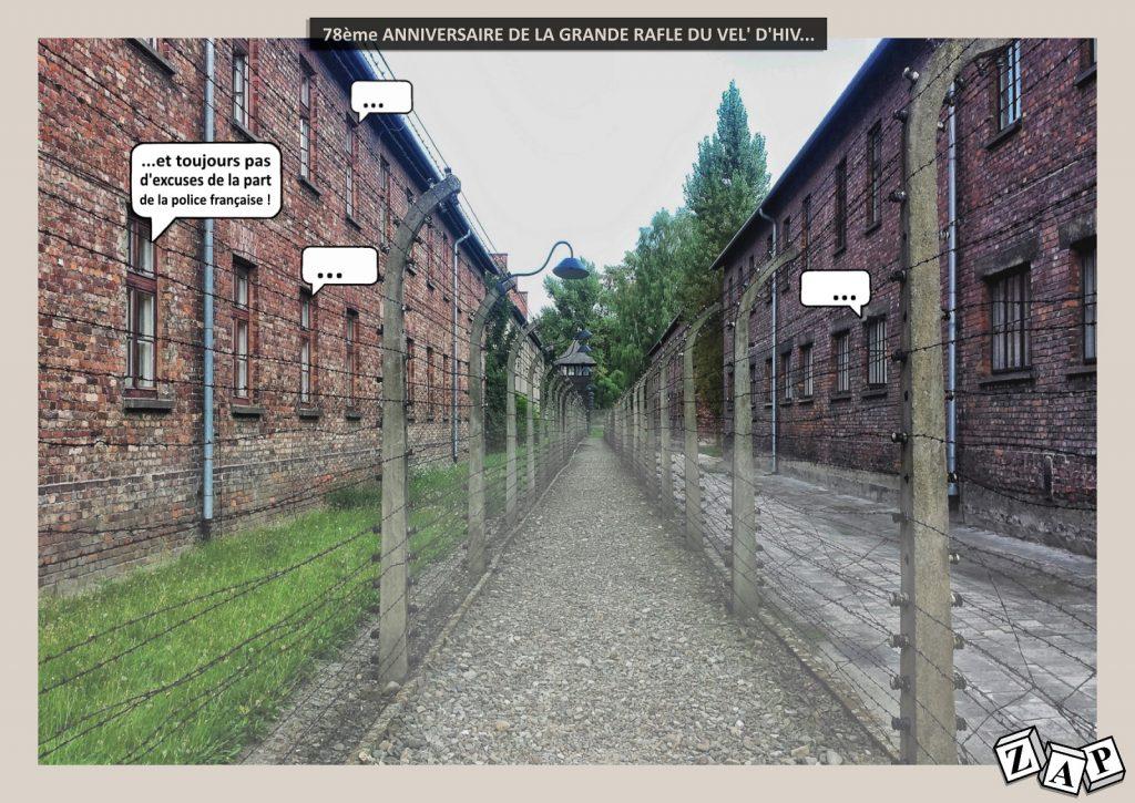 dessin humour image drôle guerre déportation juifs vélodrome d'hiver police