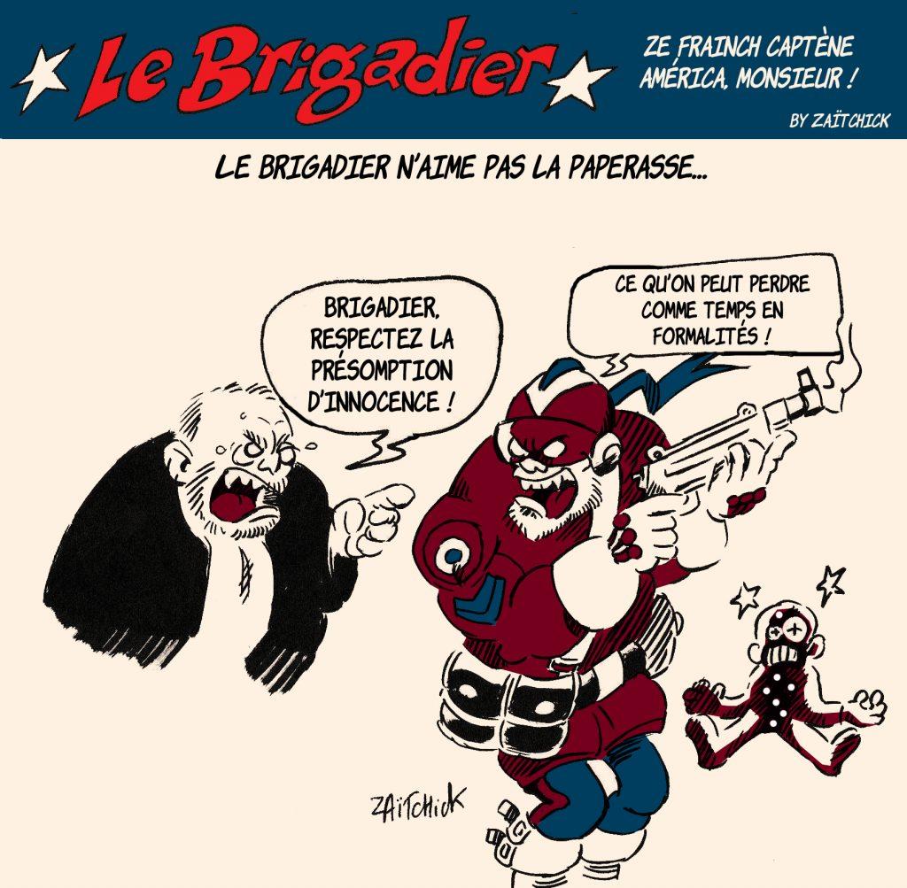 dessin humour police image drôle policier flic Éric Dupond-Moretti