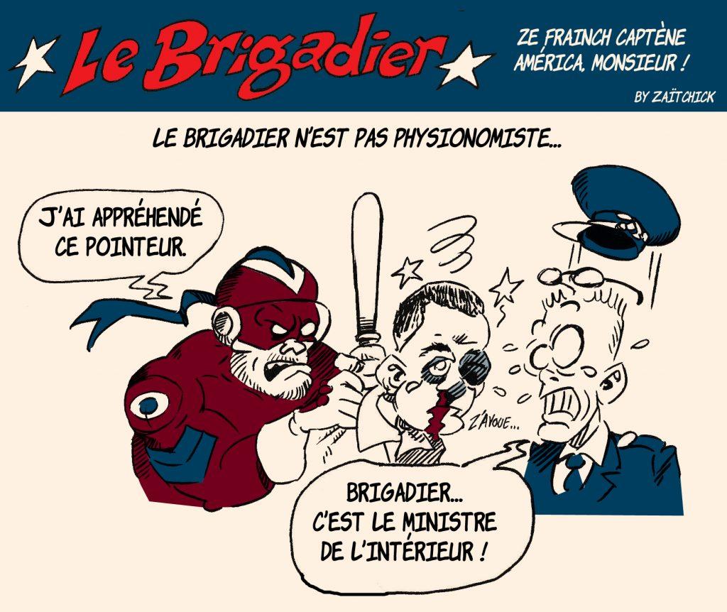 dessin humour police image drôle policier flic gérald darmanin