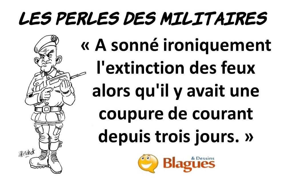 les perles du service militaire, les perles des militaires