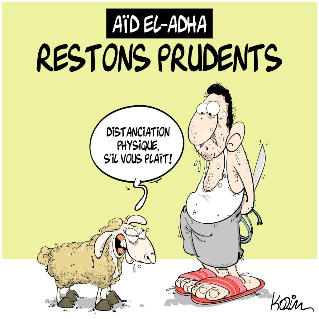 humour dessin humoristique image drôle actualité coronavirus mouton Aïd al-Adha Aïd el-Kébir