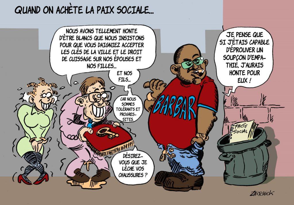 image drôle dessin humour black lives matter progressisme racialisme tolérance repentance