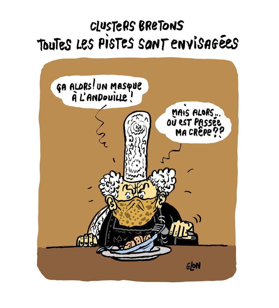 image drôle dessin humoristique actualité coronavirus bretagne covid-19 bigoudène