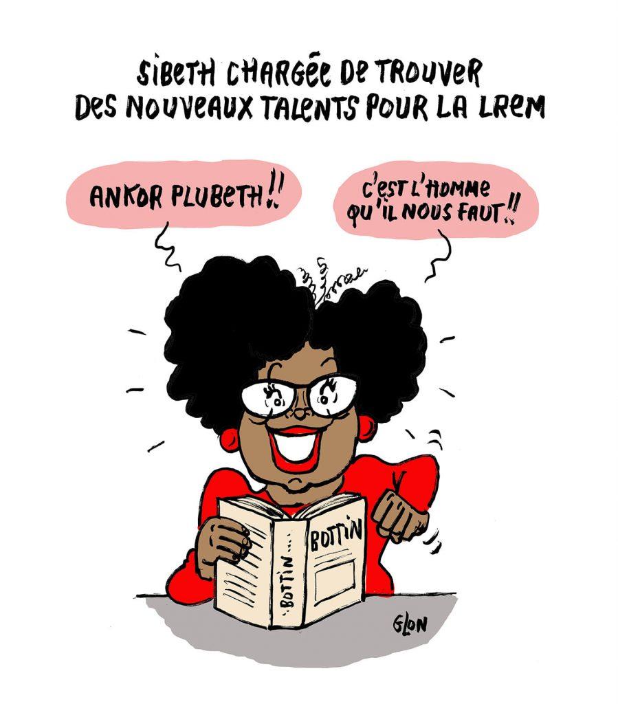 image drôle Sibeth Ndiaye dessin humoristique actualité LREM talents politique