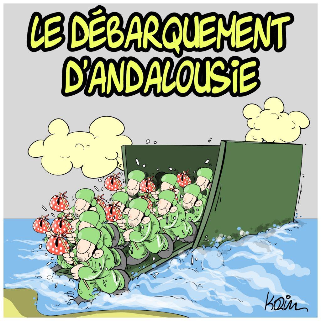 humour dessin humoristique image drôle actualité migrants clandestins débarquement