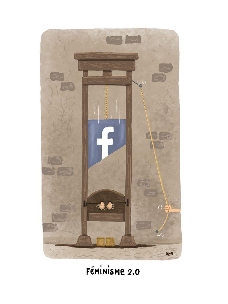 image drôle féminisme dessin humoristique actualité castration guillotine misandrie