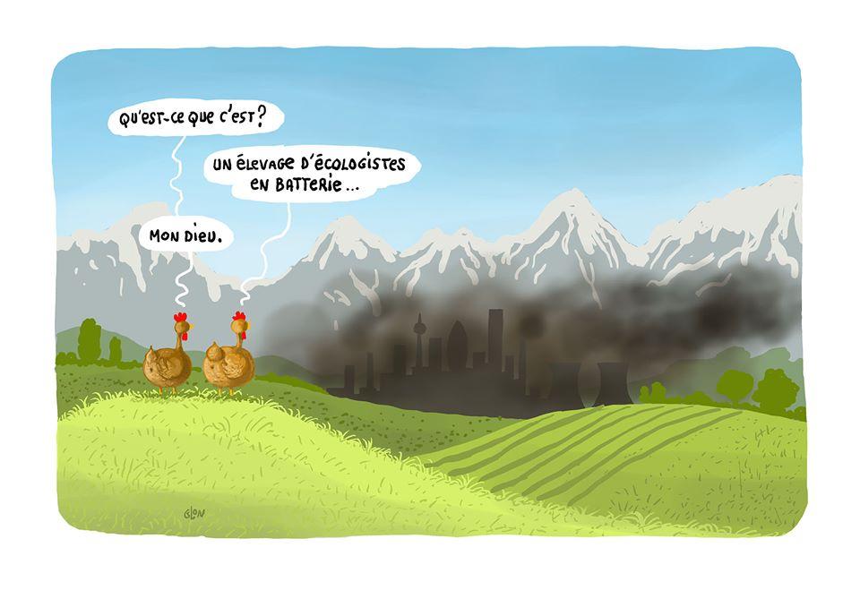 dessin humoristique de Glon sur la victoire des écologistes aux élections municipales de 2020