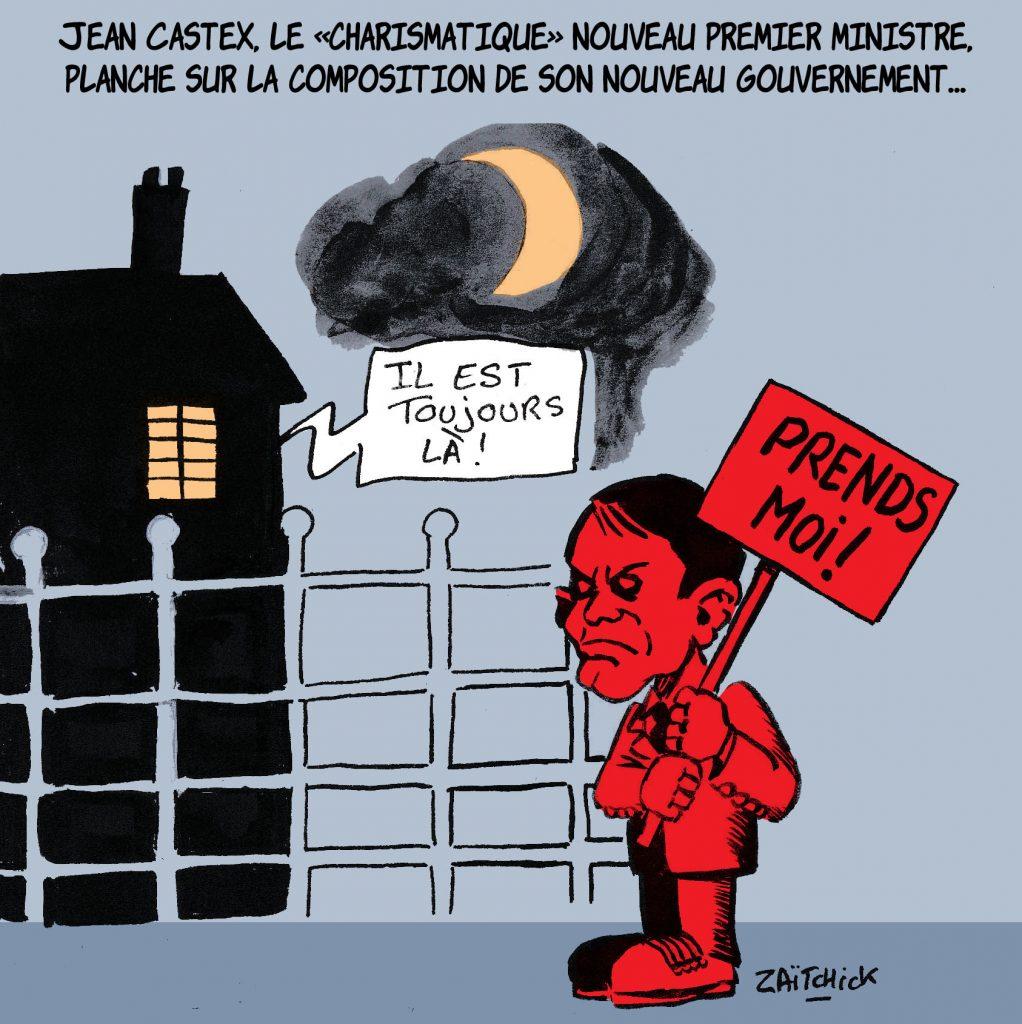 dessin de Zaïtchick sur Jean Castex et la composition de son nouveau gouvernement