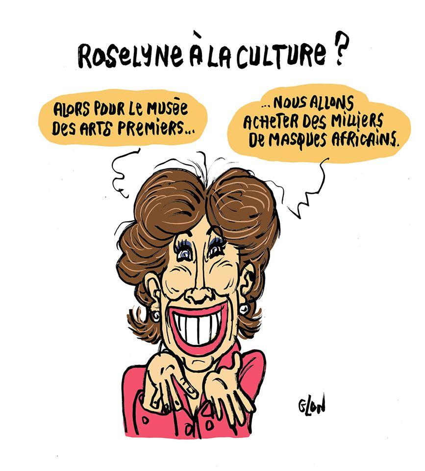 dessin humoristique de Glon sur l'éventuelle nomination de Roselyne Bachelot au ministère de la culture