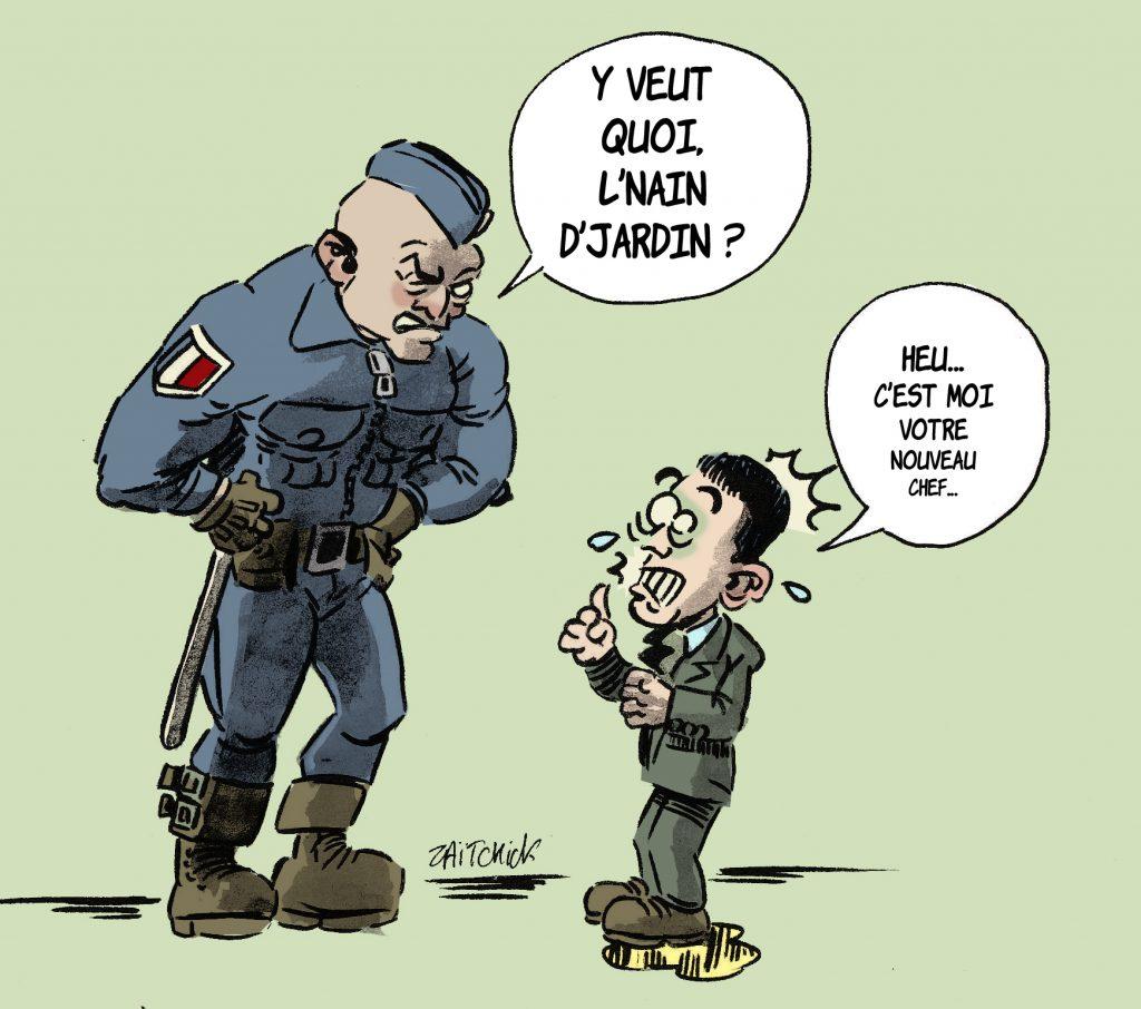 dessin de Zaïtchick sur la nomination de Gérald Darmanin au ministère de l'Intérieur