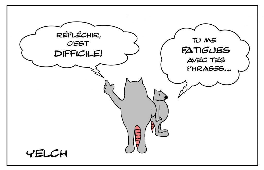 dessin humour philosophie dessin humoristique réfléchir fatigue