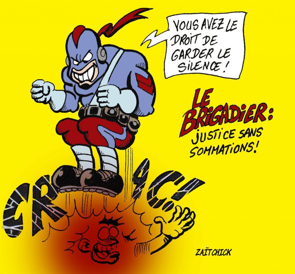 dessin de Zaïtchick sur la parodie « Le Garde Républicain »